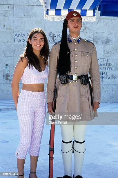 Lorena Bernal Miss Spain 1999 during her visit to Athens 07th July 1999 Athens Greece