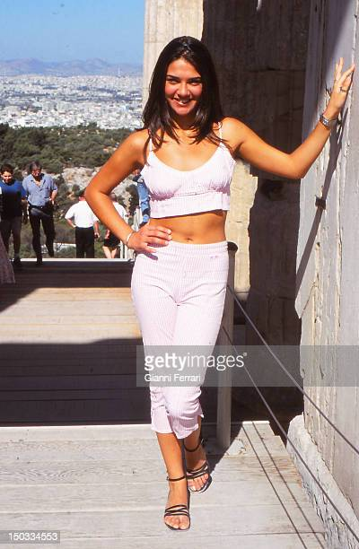 Lorena Bernal Miss Spain 1999 during hervisit to Athens 06th July 1999 Athens Greece