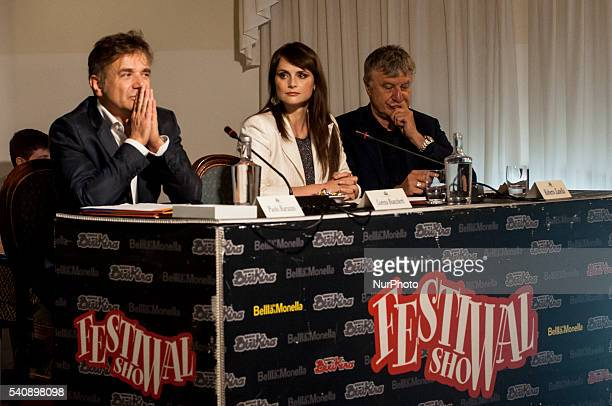 Lorena Bianchetti and Roberto Zamella attend the 16th Italian Festival Show, in Treviso, Italy, on 16 June 2016. The traveling show of the summer...