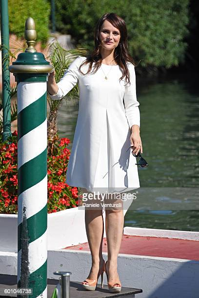 Lorena Bianchetti arrives at Lido during the 73rd Venice Film Festival on September 9, 2016 in Venice, Italy.