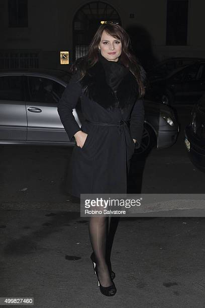 Lorena Bianchetti arrives at UNHCR Benefit Party in Milan 2015 December 3 in Milan Italy