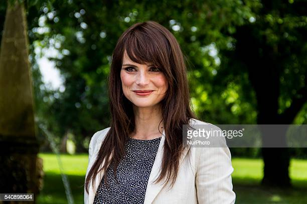 Lorena Bianchetti attend the 16th Italian Festival Show, in Treviso, Italy, on 16 June 2016. The traveling show of the summer 2016 Radio Birikina and...