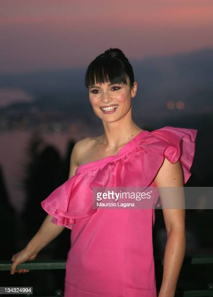 Lorena Bianchetti attends a cocktail party at Taormina Film Festival on June 18 2009 in Taormina Italy