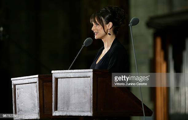 Lorena Bianchetti attends 'I Promessi Sposi' Reading held at the Duomo of Milan on April 29 2010 in Milan Italy