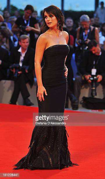 Lorena Bianchetti attends 'Linhas de Wellington' Premiere during the 69th Venice Film Festival at the Palazzo del Cinema on September 4 2012 in...