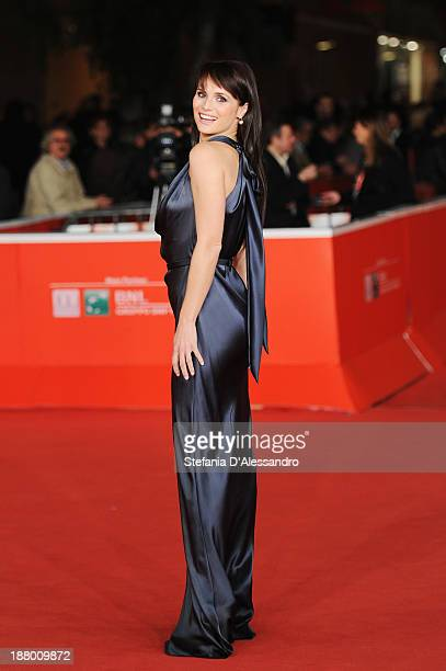 Lorena Bianchetti attends 'Parce Que J'etais Peintre' Premiere during The 8th Rome Film Festival on November 14 2013 in Rome Italy