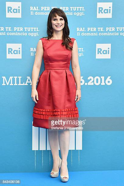 Lorena Bianchetti attends Rai Show Schedule Presentation In Milan on June 28 2016 in Milan Italy