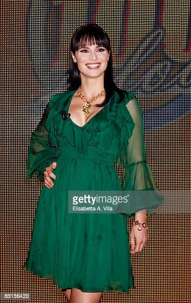 Lorena Bianchetti attends the Italian Television Show 'Domenica In' held at RAI Studios on October 5 2008 in Rome Italy