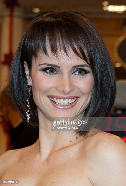 Lorena Bianchetti attends the Italian TV program '2009 Horoscope' by Paolo Fox at RAI studios on December 16 2009 in Rome Italy