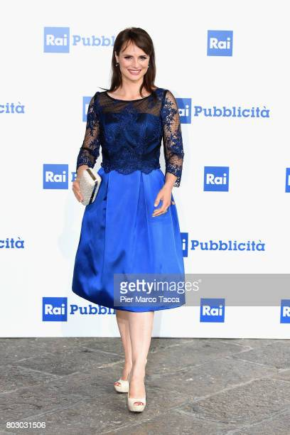 Lorena Bianchetti attends the Rai show schedule presentation at Statale University of Milan on June 28, 2017 in Milan, Italy.