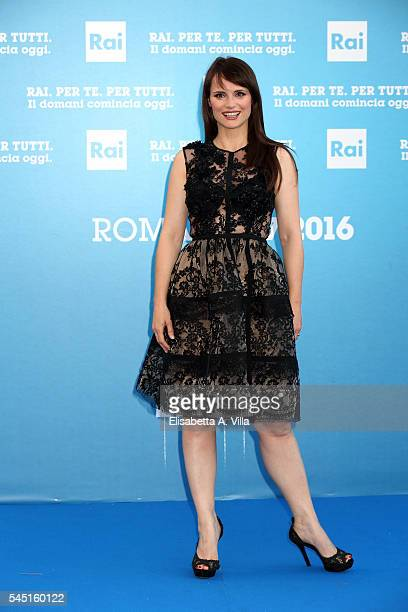 Lorena Bianchetti attends the Rai Show Schedule Presentation at Salone Delle Fontane on July 5 2016 in Rome Italy