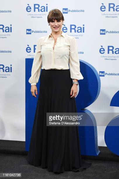 Lorena Bianchetti attends the Rai Show Schedule presentation on July 09, 2019 in Milan, Italy.