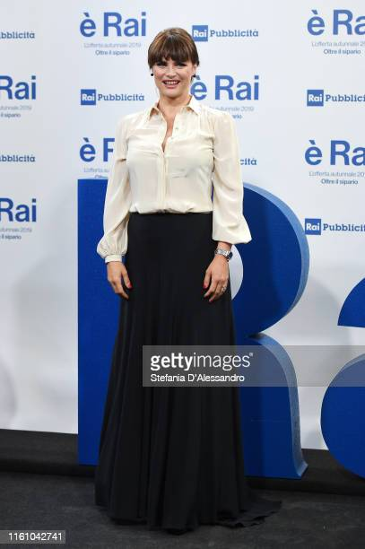 Lorena Bianchetti attends the Rai Show Schedule presentation on July 09 2019 in Milan Italy