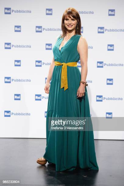 Lorena Bianchetti attends the Rai Show Schedule presentation on June 27, 2018 in Milan, Italy.