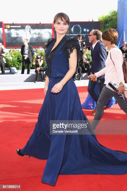 Lorena Bianchetti walks the red carpet ahead of the 'Foxtrot' screening during the 74th Venice Film Festival at Sala Grande on September 2 2017 in...