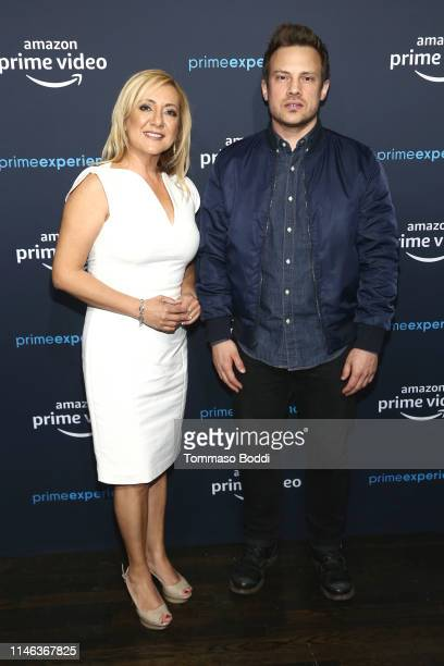 Lorena Bobbitt and Josh Rofe attend the Amazon Prime Experience Hosts Lorena FYC Screening And Panel at Hollywood Athletic Club on May 01 2019 in...