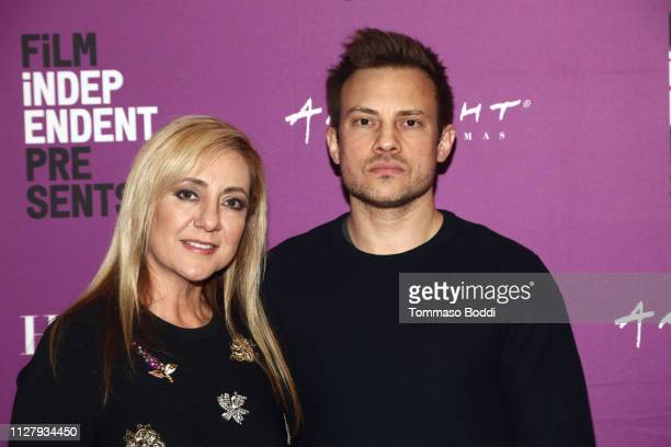 Lorena Bobbitt and Joshua Rofe attends the Film Independent Presents Lorena at ArcLight Hollywood on February 06 2019 in Hollywood California