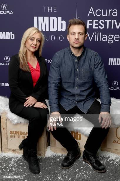 Lorena Bobbitt and Joshua Rofe of 'Lorena' attend The IMDb Studio at Acura Festival Village on location at The 2019 Sundance Film Festival Day 4 on...