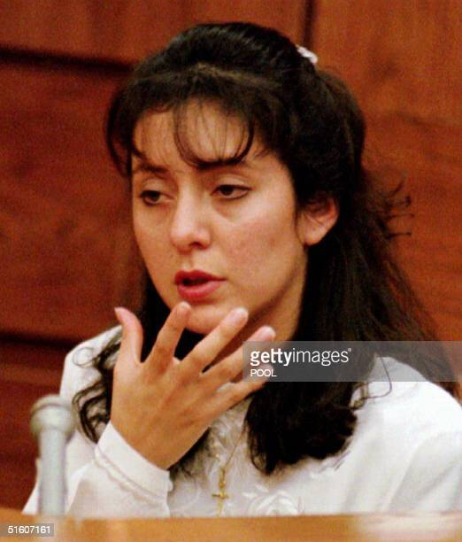 Lorena Bobbitt describes an incident of abuse involving her husband during the third day of her malicious wounding trial 12 January 1994 Bobbitt...