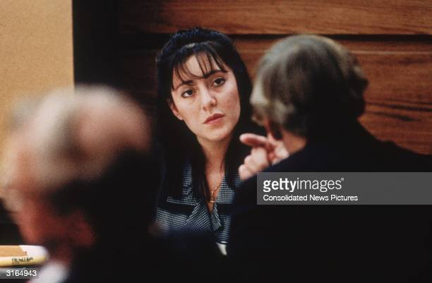 Lorena Bobbitt takes the witness stand in her trial for cutting off her husband's penis