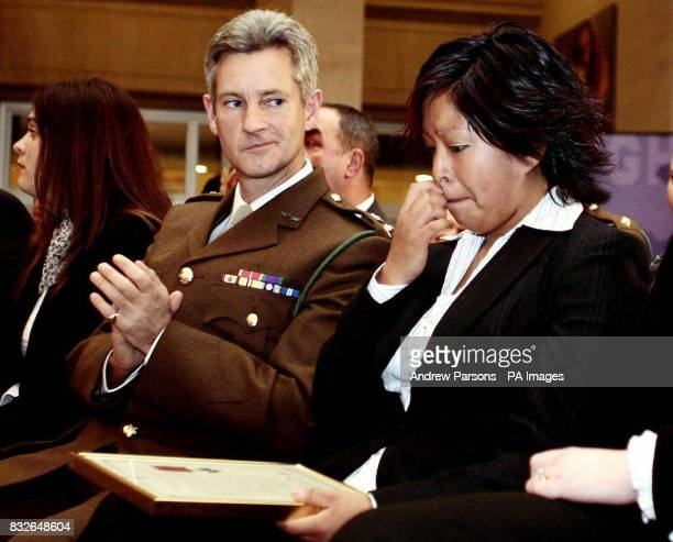 BYLINE Lorena Budd wife of the late Corporal Bryan Budd after it was announced at a ceremony at the Ministry of Defence that he will be awarded with...