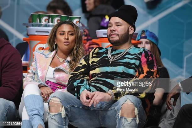 Lorena Cartagena and Fat Joe attend the 2019 NBA AllStar Celebrity Game at Bojangles Coliseum on February 16 2019 in Charlotte North Carolina