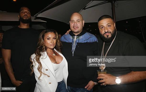 Lorena Cartagena Fat Joe and DJ Khaled attend Haute Living Celebrates DJ Khaled And Nicole Khaled Presented By JetSmarter on June 6 2016 in New York...