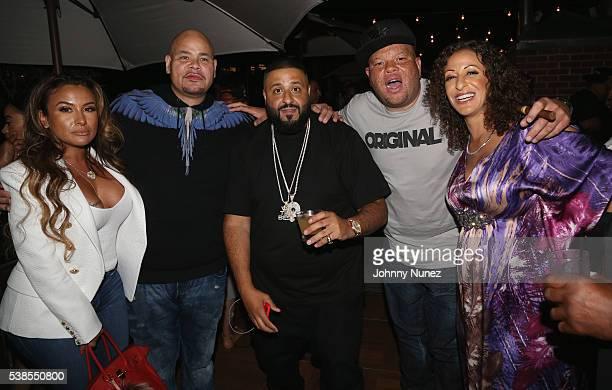 Lorena Cartagena Fat Joe DJ Khaled Shawn Pecas and Nicole Khaled attend Haute Living Celebrates DJ Khaled And Nicole Khaled Presented By JetSmarter...