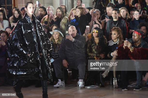 Lorena Cartagena Fat Joe Remy Ma Keyshia Cole and Lazell Shaw attend the Front Row for the Philipp Plein Fall/Winter 2017/2018 Women's And Men's...