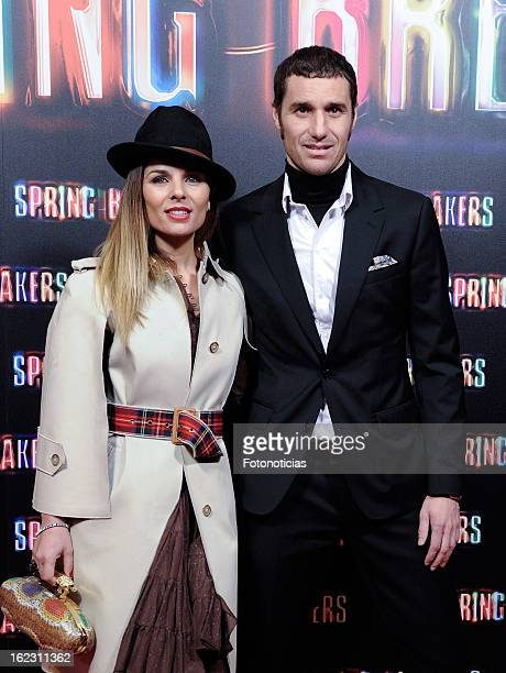 Lorena Casado and Ivan Helguera attend the premiere of 'Spring Breakers' at Callao Cinema on February 21, 2013 in Madrid, Spain.