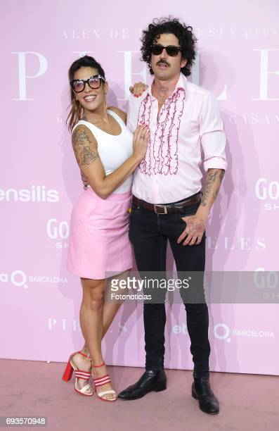 Lorena Castell and guest attend the 'Pieles' premiere pink carpet at Capitol cinema on June 7 2017 in Madrid Spain
