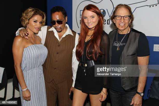 Lorena Day, Morris Day, Kendra Erika and Richie Supa pose at Recovery Unplugged Treatment Center on May 23, 2017 in Ft. Lauderdale, Florida.