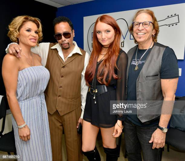 Lorena Day, Morris Day, Singer Kendra Erika and Richie Supa, songwriter/guitarist of Aerosmiths pose for picture after a Unplugged Performance with...