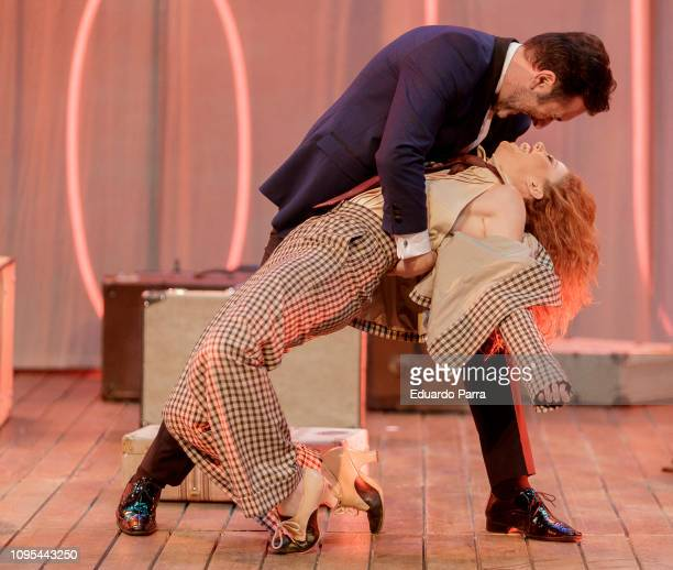 Lorena de Orte and Miguel Garcia attend the 'Muerte en el Nilo' theatre play rehearsal at Amaya theatre 4on January 17 2019 in Madrid Spain
