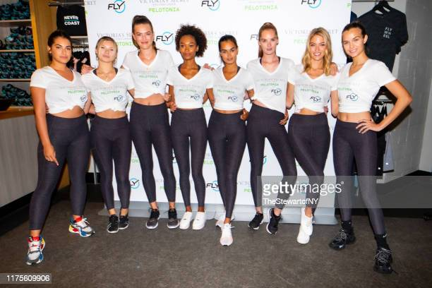 Lorena Duran Josie Cansecao Sofie Rovenstine Chey Carty Gizele Oliveira Alexina Graham Martha Hunt and Josephine Skriver attend Angel Cycle at...