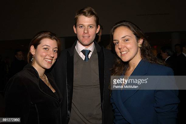 Lorena Fernandez, Anthony Rutgers and Kate Barry attend Celebration of Gustavo Cisneros Biography at Museum of Modern Art on February 15, 2005 in New...