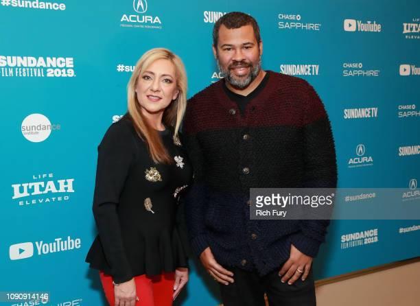 Lorena Gallo Executive Producer Jordan Peele attend the Lorena Premiere during the 2019 Sundance Film Festival at Egyptian Theatre on January 29 2019...