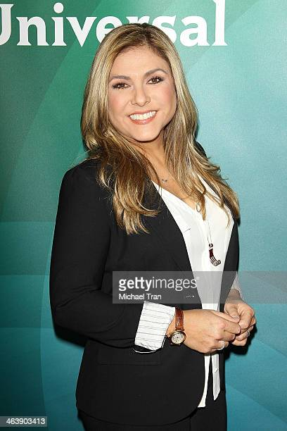 Lorena Garcia arrives at the NBC/Universal 2014 TCA Winter press tour held at The Langham Huntington Hotel and Spa on January 19 2014 in Pasadena...