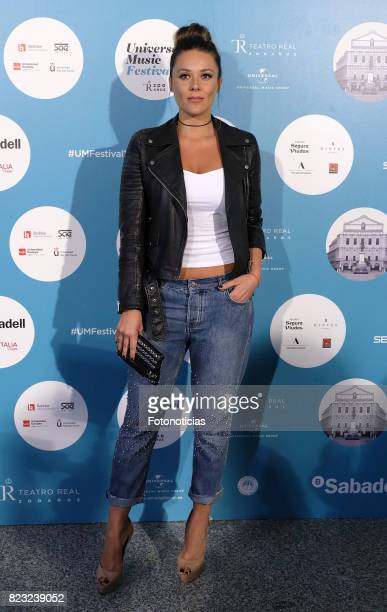 Lorena Gomez attends the David Bisbal Universal Music Festival concert at The Royal Theater on July 26 2017 in Madrid Spain