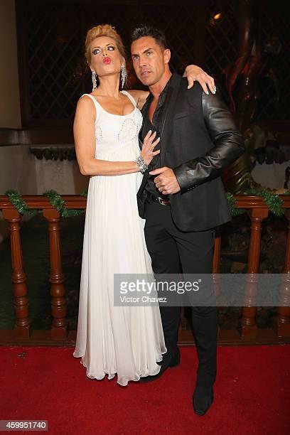 Lorena Herrera and Roberto Assad attend Premio Nacional De La Mujer 2014 at Casino Naval de la Secretaria de Marina on December 3 2014 in Mexico City...