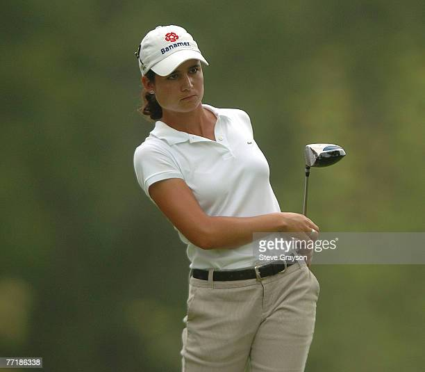 Lorena Ochoa in action during the 2006 John Q Hammons Hotel Classic at the Cedar Ridge Country Club in Broken Arrow Oklahoma on September 10 2006