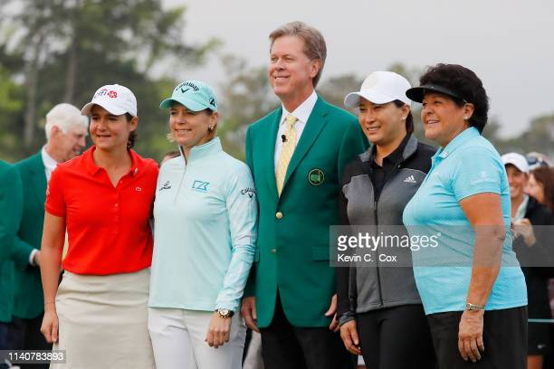 Lorena Ochoa of Mexico Annika Sorenstam of Sweden Chairman of Augusta National Golf Club and the Masters Tournament Fred Ridley SeRi Pak of South...