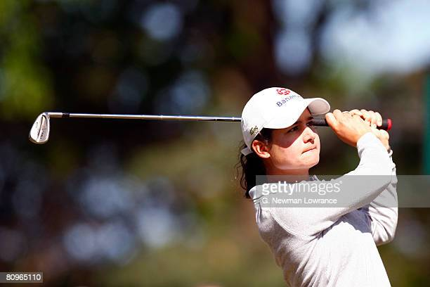 Lorena Ochoa of Mexico hits a tee shot on the 6th hole during the second round of the SemGroup Championship presented by John Q Hammons on May 2 2008...