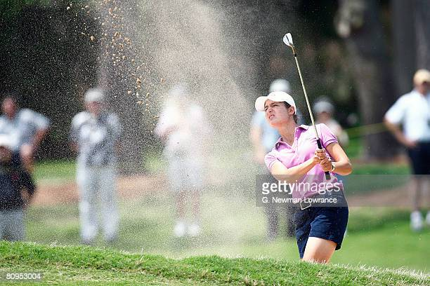 Lorena Ochoa of Mexico hits out of a bunker on the 14th hole during the first round of the SemGroup Championship presented by John Q Hammons on May 1...