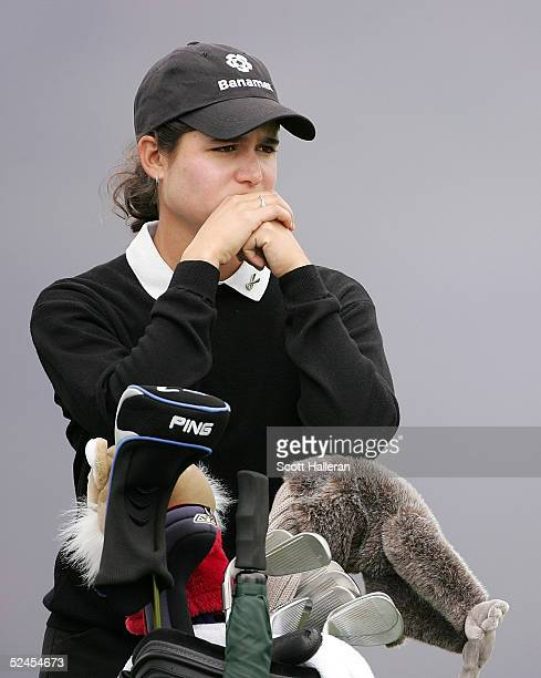 Lorena Ochoa of Mexico waits on the seventh tee during the third round of the Safeway International at Superstition Mountain Golf and Country Club on...