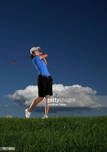 Lorena Ochoa poses for a portrait during the LPGA Safeway Classic at the Columbia Edgewater Country Club on August 22 2007 in Portland Oregon