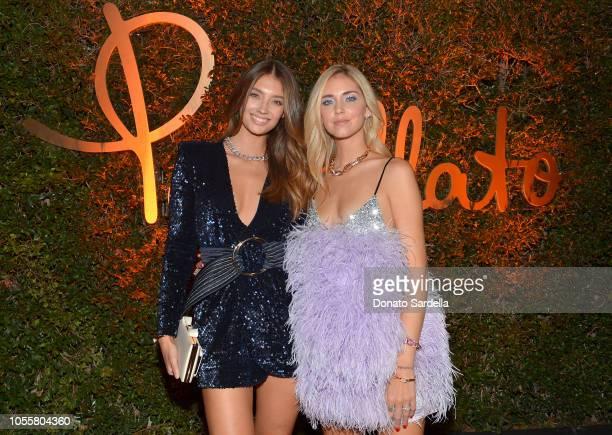 Lorena Rae and Chiara Ferragni attend the Pomellato store opening with Chiara Ferragni at Christie's on October 16 2018 in Beverly Hills California