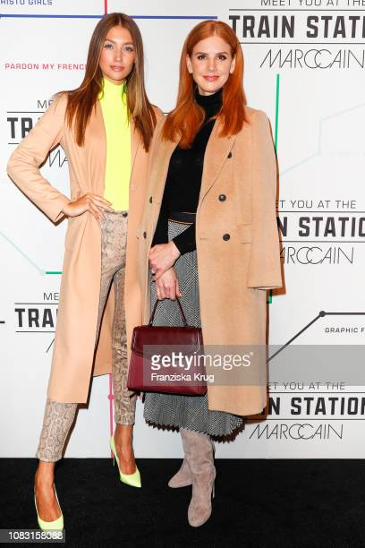 Lorena Rae and Sarah Rafferty during the Marc Cain Fashion Show Autumn/Winter 2019 at Deutsche Telekom's representative office on January 15 2019 in...