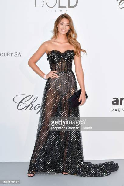 Lorena Rae arrives at the amfAR Gala Cannes 2018 at Hotel du CapEdenRoc on May 17 2018 in Cap d'Antibes France