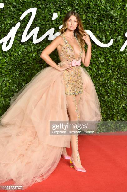 Lorena Rae arrives at The Fashion Awards 2019 held at Royal Albert Hall on December 02 2019 in London England